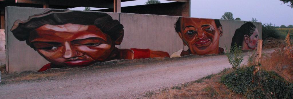 Brescia, Italy, 2012, 26 x 2 meters, acrylic